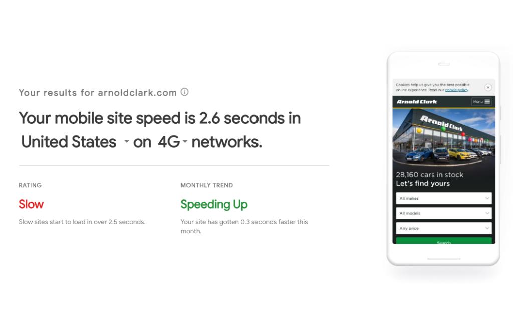 Speed test example