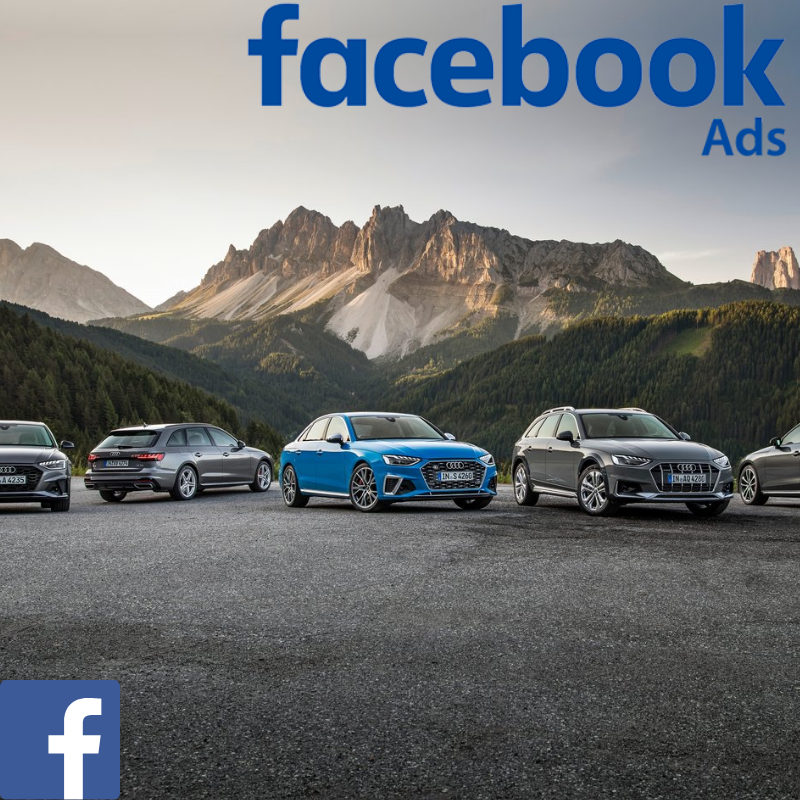 Audi used car website visitors direct from Facebook advertising