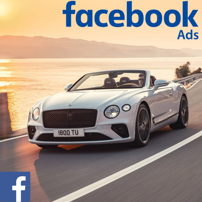 Bentley used car website visitors direct from Facebook advertising