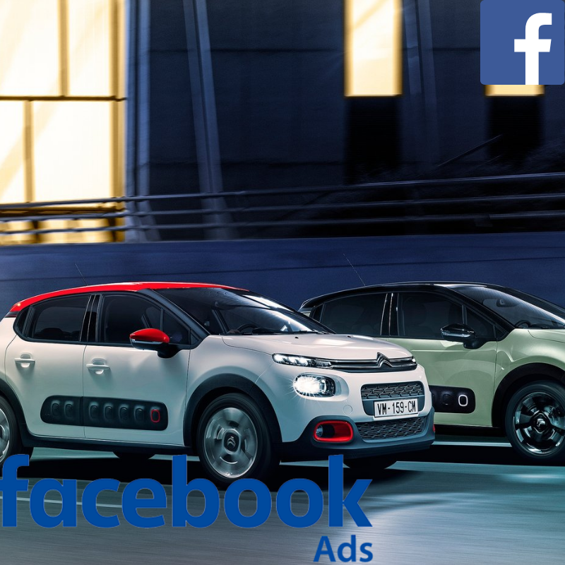 Citroën used car website visitors direct from Facebook advertising