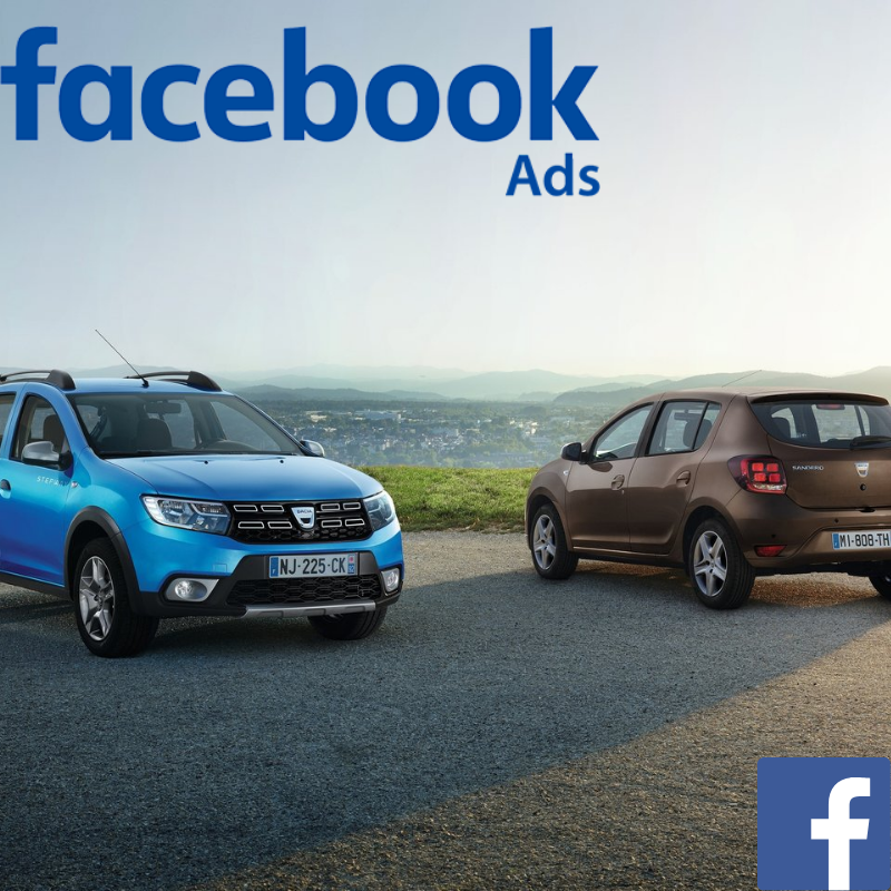 Dacia used car website visitors direct from Facebook advertising