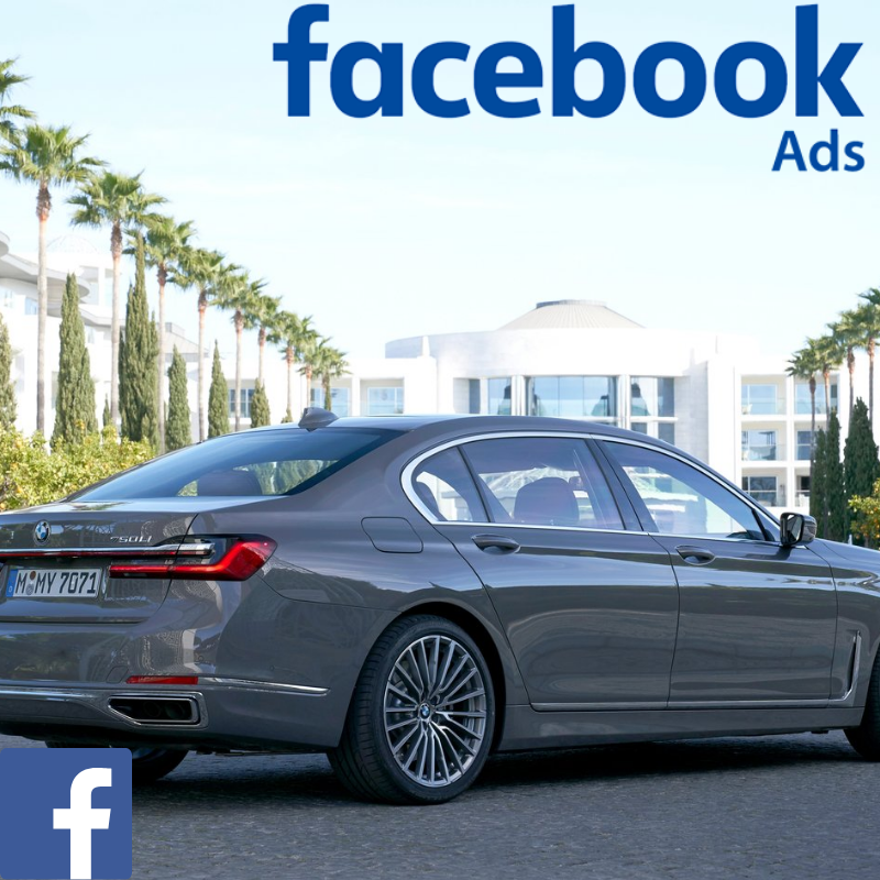 BMW used car website visitors direct from Facebook advertising