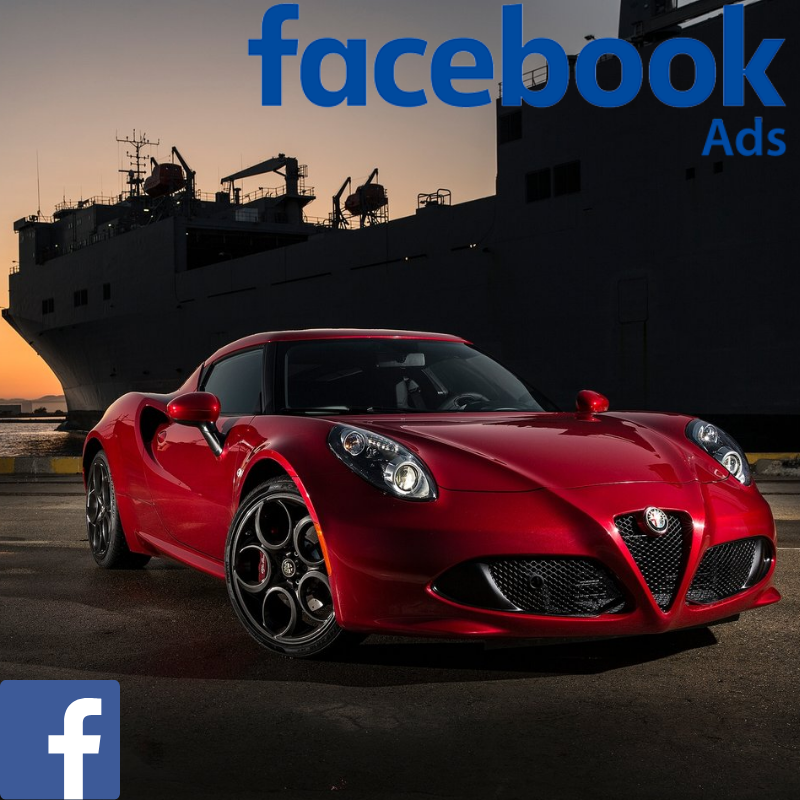Alfa-romeo used car website visitors direct from Facebook advertising