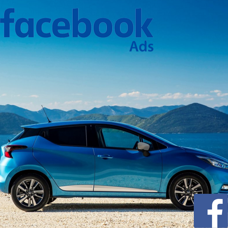 Nissan used car website visitors direct from Facebook advertising